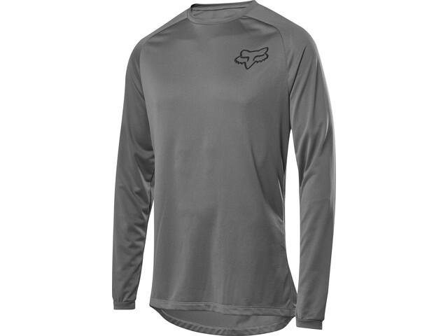 Fox Tecbase Camiseta Interior Manga Larga Hombre, grey